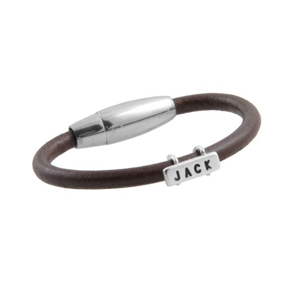 Boy's Personalised Leather Bracelet