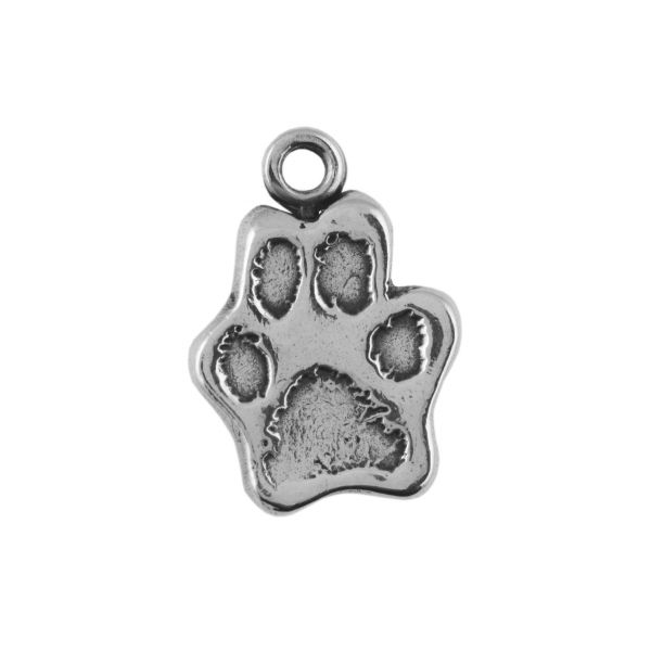 Cut Out Paw Print Charm