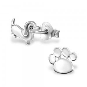 Dog And Paw Studs