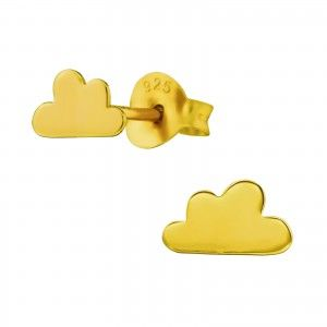 Gold Cloud Studs