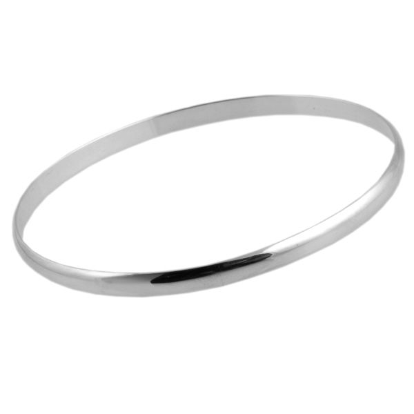 Medium Smooth Finish Silver Bangle