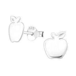 Silver Apple Studs