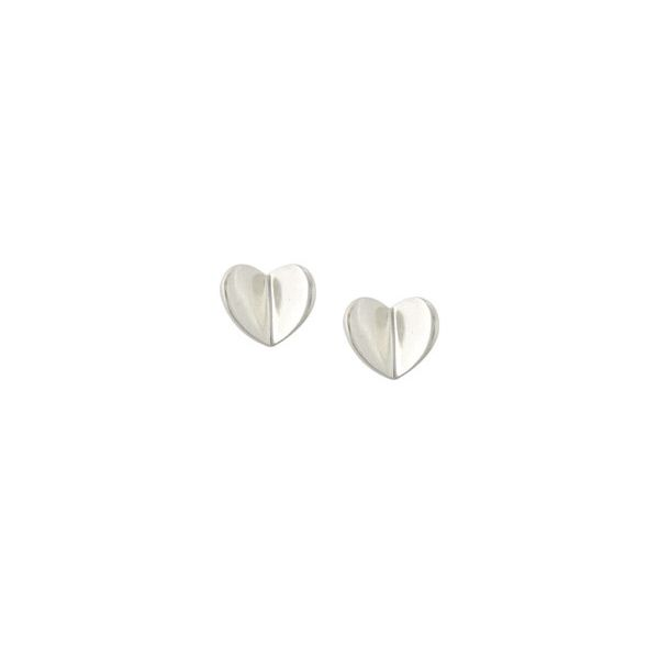 Silver Butterfly Heart Earrings