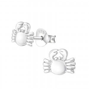 Silver Crab Studs