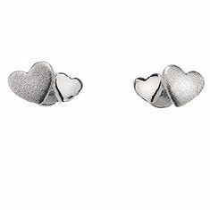 Silver Multi Heart Earrings