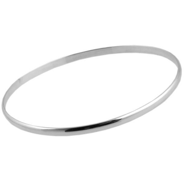 Small Smooth Finish Silver Bangle