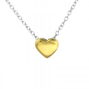Tiny Gold Heart Necklace